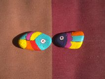 Stone fish. Colorful stone fish, expression kind of intimacy Stock Images