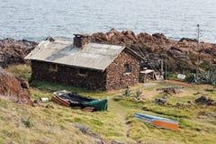 Stone Fisherman  House Stock Image