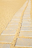 Stone Flags in the Sand Royalty Free Stock Photography