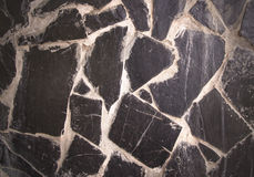 Stone floor plastered with cement for background Royalty Free Stock Photography