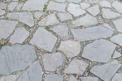 Stone floor texture in The Retiro park stock photography