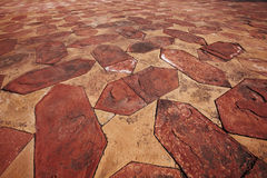 Stone floor tiled pattern Stock Image
