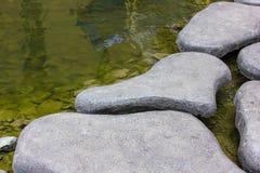 Stone Floored sidewalks The concept For Design Stock Photos