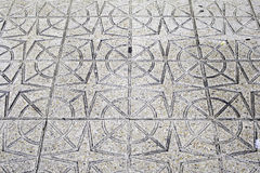 Stone flooring stars Royalty Free Stock Images