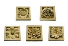 Stone Flora collection. Set of stone Flower collection (small size Stock Image