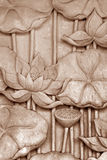 Stone Floral Sculpture Royalty Free Stock Photography