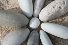 Stone flower. Image of stones arranged as a flower Royalty Free Stock Photo
