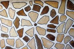 Stone flower created by gneiss slabs. Stone flower on wall created by gneiss slabs Royalty Free Stock Images