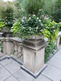 Stone flower vases. And railings near the art Institute of chicago Royalty Free Stock Photos