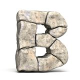 Stone font letter B 3D vector illustration