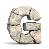 Stone font letter G 3D royalty free illustration