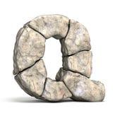Stone font letter Q 3D vector illustration