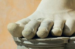 Stone foot, rome, italy Royalty Free Stock Photo