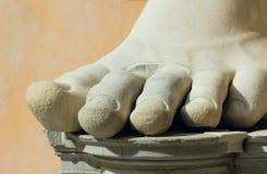 Stone foot, rome, italy royalty free stock photo