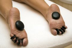 Stone foot spa treatment Stock Images