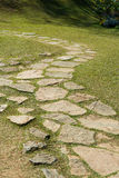 Stone footpath curve Royalty Free Stock Photos