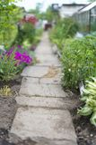 Stone footpath. Royalty Free Stock Photo