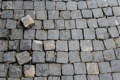 Stone footpath. And separated rock Royalty Free Stock Photography