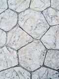 Stone footpath surface Stock Photography