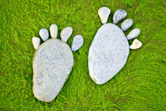 Stone footprints Royalty Free Stock Photo