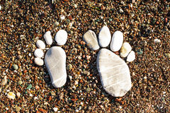 Stone foots Royalty Free Stock Images