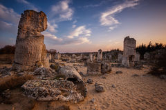 Free Stone Forest At Sunset Royalty Free Stock Image - 52157436