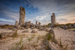 Stone Forest. Beautiful view before sunset with the famous rock formation Stone Forest near Varna, Bulgaria Stock Image