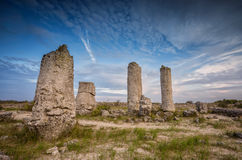 Stone Forest. Beautiful view before sunset with the famous rock formation Stone Forest near Varna, Bulgaria Stock Photo