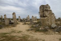 Stone Forest in Bulgaria. Stones mineral origin. Group Stock Photography