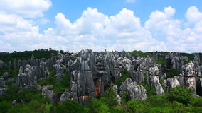 Stone forest China kunming stock video footage