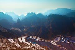 Stone forest gansu china Stock Photography