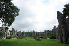 Stone forest with great view Royalty Free Stock Photos