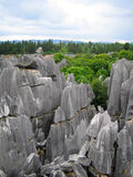 Stone Forest Horizon. Stone Forest, China's National Park, Yunnan, China Royalty Free Stock Image
