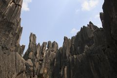 Stone forest in Kunming, Yunnan province, China also know as Shilin Royalty Free Stock Photography