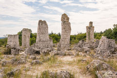 Stone Forest near Varna, Bulgaria. Pobiti Kamani. Natural rock formation, part of the Stone Forest ( Pobiti Kamani ) located not far of Varna, Bulgaria stock images