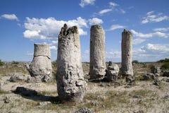 Stone Forest near Varna, Bulgaria. Pobiti kamani, rock phenomenon stock photo