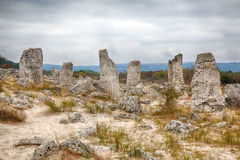 Stone Forest near Varna, Bulgaria. Pobity kamni Royalty Free Stock Images