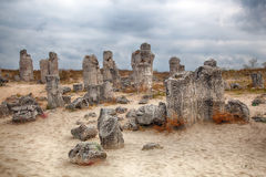 Stone Forest near Varna, Bulgaria. Pobity kamni Stock Photo