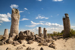Stone Forest near Varna, Bulgaria, rock phenomenon Royalty Free Stock Photo
