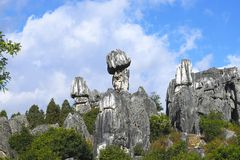 Stone Forest, Shilin, Yunnan, China royalty free stock photography