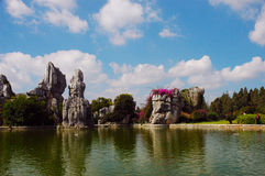 Stone forest in yunnan Stock Image