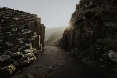 Stone formation at Giant`s Causeway Royalty Free Stock Photography