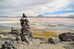 Stone formation in the laguna colorada Stock Image