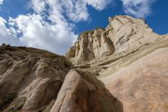 Stone formation in the Pigeon Valley of Cappadocia, Turkey royalty free stock image