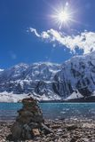 Stone Formation at Tilicho Lake. stock photography