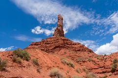 Stone formation in the wild desert landscape in Valley of the Gods in Utah, USA stock images