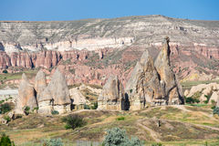 Stone formations in Cappadocia, Turkey Stock Photography