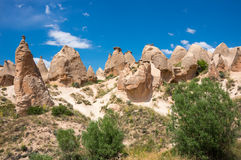 Stone formations in Cappadocia, Turkey Stock Photos