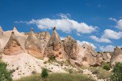 Stone formations in Cappadocia, Turkey Royalty Free Stock Photography