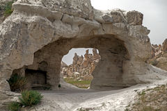 Stone formations in Cappadocia Stock Photo